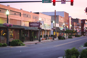 IMG_9576 - Oak street with Jenifers & Hill at dusk (1)