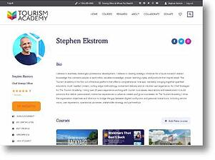 tourism student academy instructor dashboard